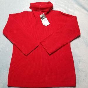 NWT RALPH LAUREN Women's Sweater Red Size S